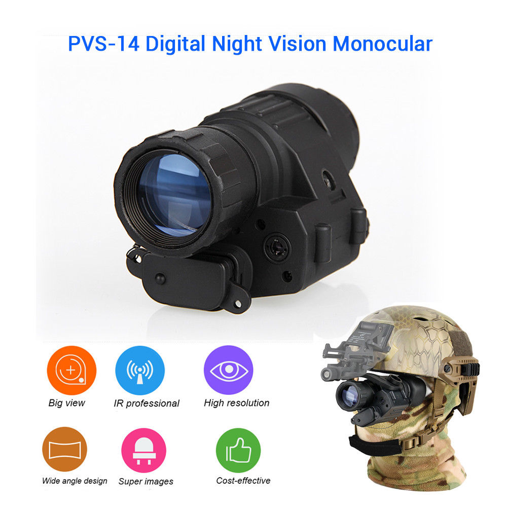 Mini Digital Night Vision Military Tactical Optical Monocular Telescope Device For Hunting 200m More Visual Distance