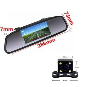 Image 2 - Podofo Auto Video HD Auto Monitor di Parcheggio, LED Night Vision Telecamera di Retromarcia CCD Auto Videocamera vista posteriore Con 4.3 pollici Retrovisore Auto Specchio