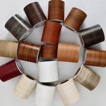 Самоклеящиеся деревянные наклейки на окна, наклейка для гостиной, напольной рамки, обрамления, контактная бумага, водонепроницаемая линия ...