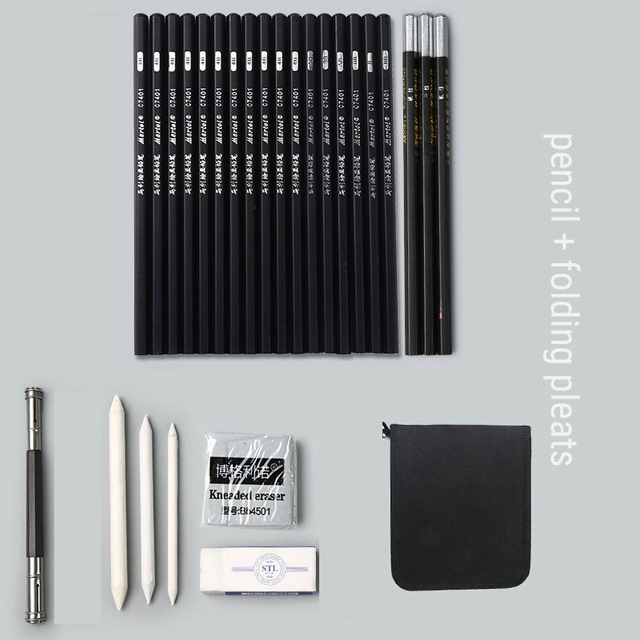 Charcoal Pencil Set 30 Pcs Professional Art Drawing Sketch Pencils Stationery for Artist Beginner Student Kids