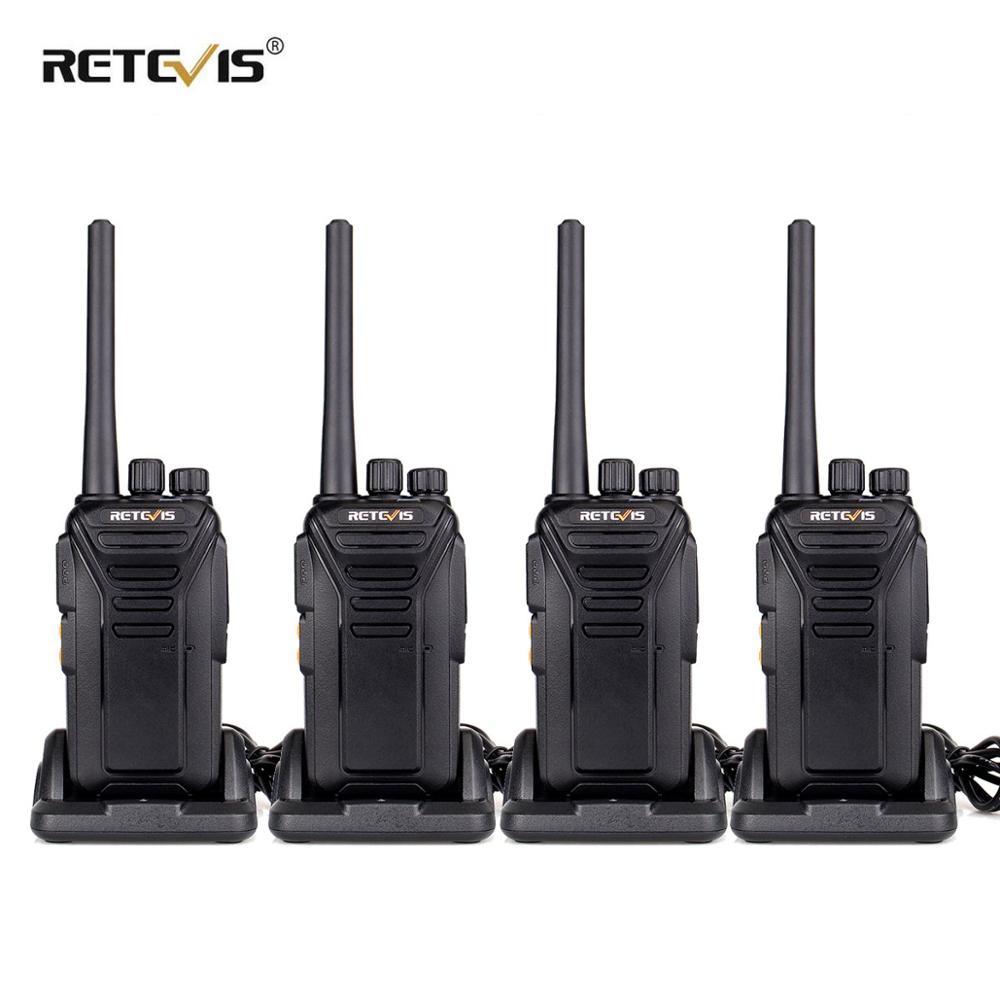 4pcs Retevis RT27 Walkie Talkie PMR Radio PMR446/FRS 0.5W/2W VOX USB Charging Scrambler Portable 2 Way Radio Station Transceiver
