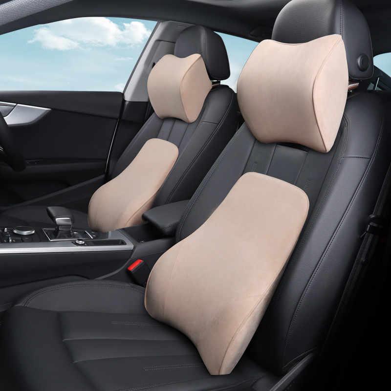Поясничная поддержка для автокресла офисное кресло розовый для женщин милый хлопок с памятью автомобильные продукты сплошной цвет авто аксессуар