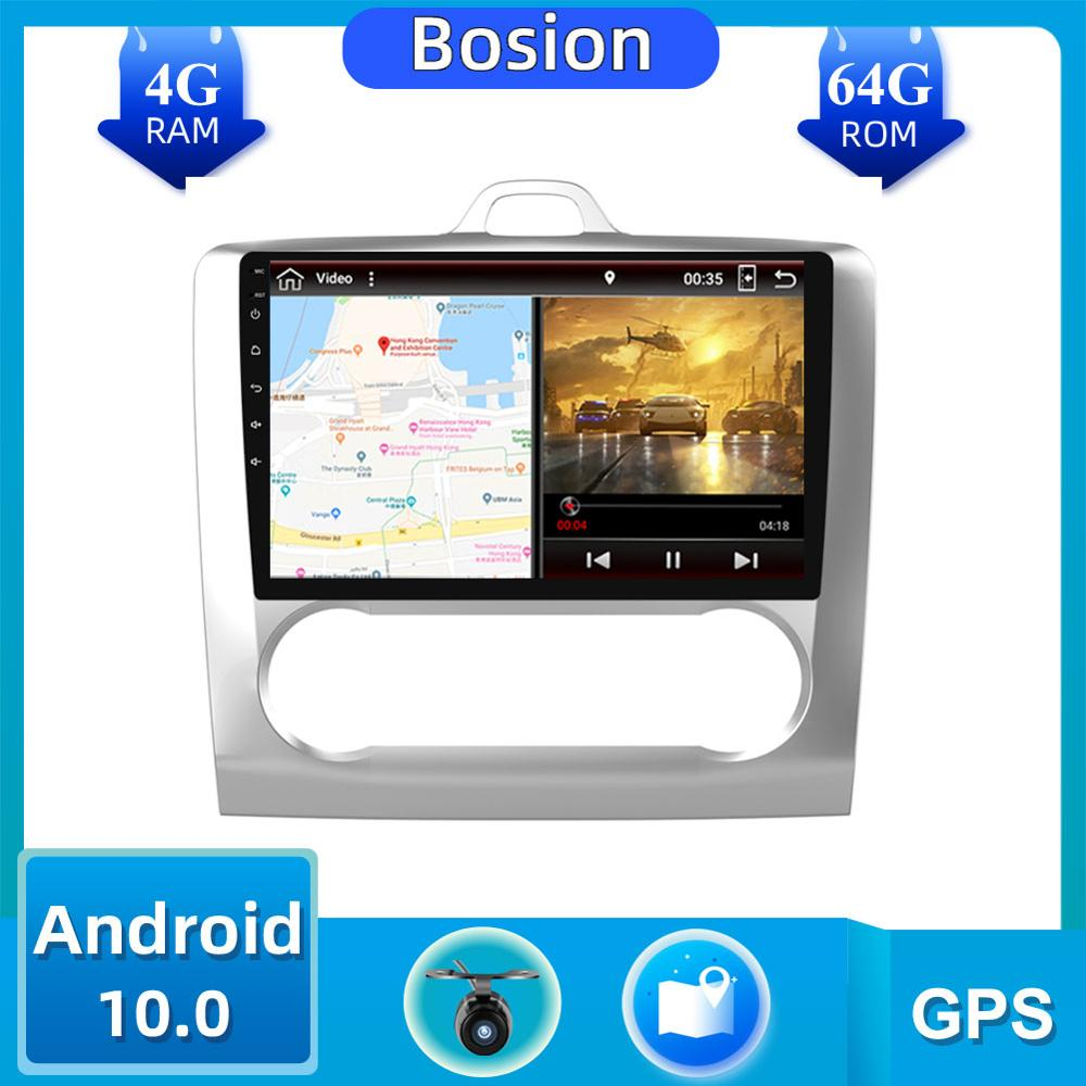 <font><b>Car</b></font> <font><b>Audio</b></font> <font><b>Android</b></font> 10.0 GPS Navigation Touch screen 1 DIN <font><b>Car</b></font> Radio For 2004 2005 2006-2011 ForFord Focus Exi AT Wifi BT USB image