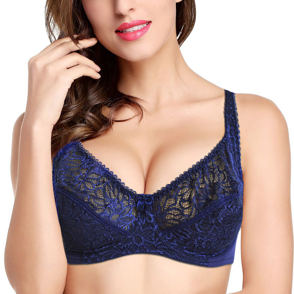 Bras For Women Adjusted-straps Underwire Bra Sexy Women Underwear Lace Bralette Lingerie Top Large Size B C D DD E F Cup 25