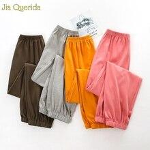 Lounge Pants Womens Pijama Pants Minimalist Style Solid Pajama Bottoms Cotton El