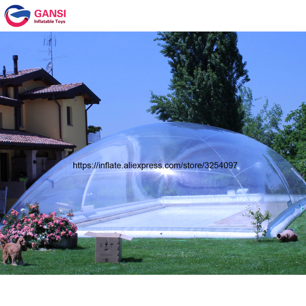Inflatable Hot Tub Swimming Pool Solar Dome Inflatable Swimming Pool Cover Tent