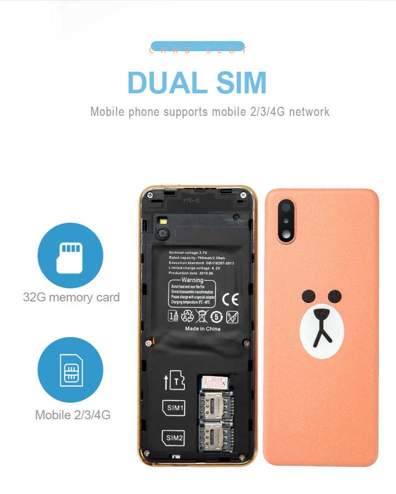 Ultra ince dokunmatik kart mini cep telefonu Taiml i8 Bluetooth güçlü çağrı titreşim ile el feneri pil 700mAh kamera fonksiyonu