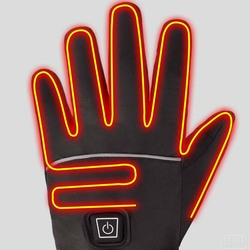 2020 Winter Cycling Gloves Waterproof Heated Guantes Ciclismo Touch Screen Battery Powered Bike Gloves Racing Riding Ski Gloves