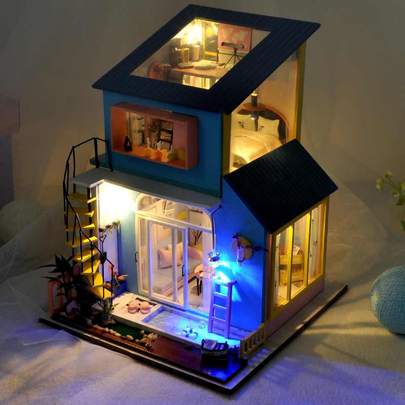 Juego De combinación De Casa De muñecas Lol, muebles De dormitorio, sala De estar, cocina, Casa De muñecas en miniatura para Casa De muñecas De Madeira, Casa De muñecas