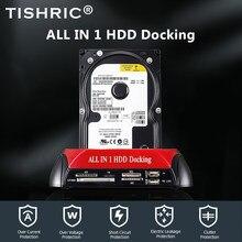 TISHRIC All In 1 stacja dokująca HDD Dual USB 2.0 2.5
