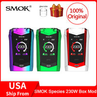 Original SMOK Species Mod 230W Touch Screen Mod VW/TC Box Mod 18650 Battery For Electronic cigarette vape species kit