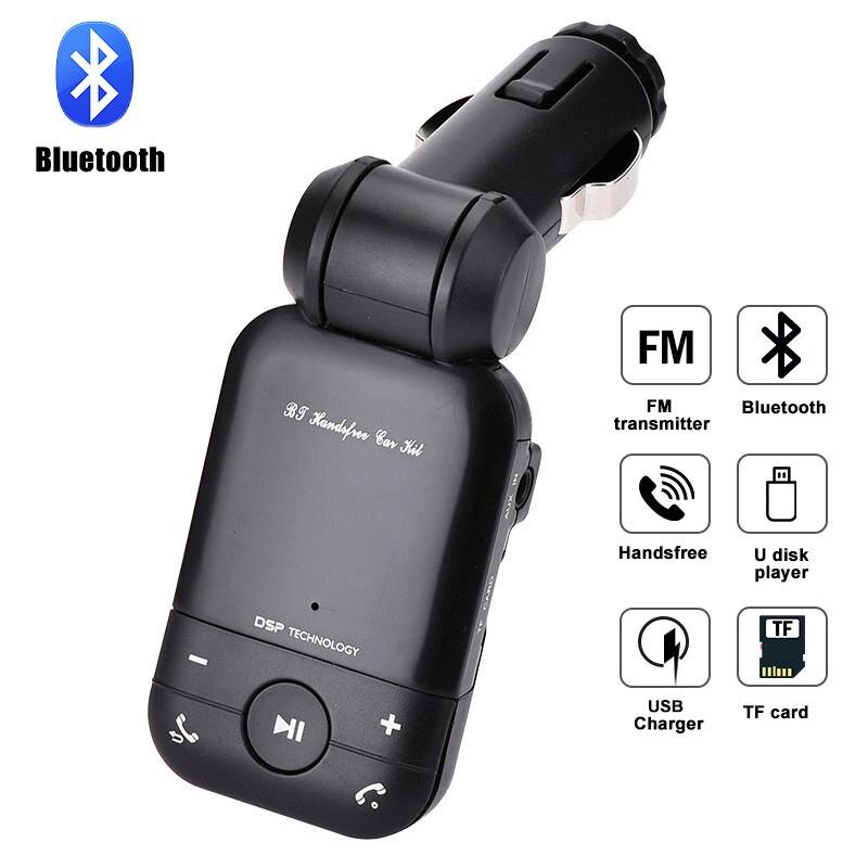 Modulador de transmisor FM para coche, reproductor MP3 inalámbrico, Bluetooth, con pantalla LED, Cargador USB, compatible con tarjeta TF AUX, disco en U