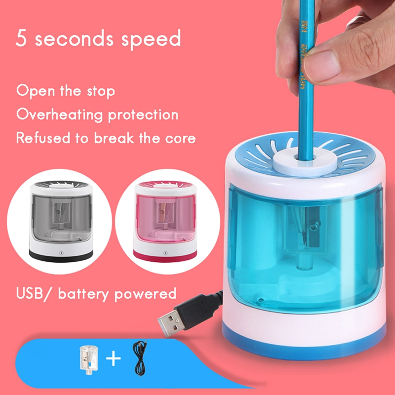 Electric Pencil Sharpener USB/Use Battery Cute Pencil Sharpener Students Stationery Office School Supplies