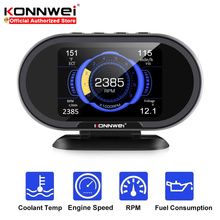 Konnwei kw206 medidor de temperatura da água obd2 on board computador auto exibição de dados leitor de código obd ii ferramentas de scanner de diagnóstico do carro