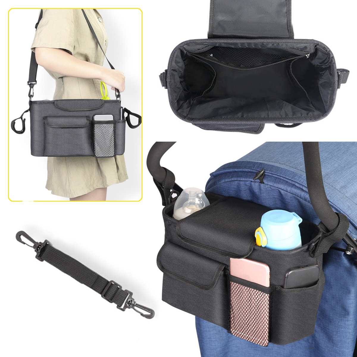 Diaper Maternity Bag For Mother Mom Hanken Girl Wheelchairs Suitcase Nappy Trolley Changing Bag Stroller Maternity Baby Bag
