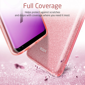 Image 4 - ESR Case for Samsung Galaxy S9 Cover Makeup Series Back Cover Shinning Protective Bling Glitter 3 Layer Case for Samsung S9 Plus