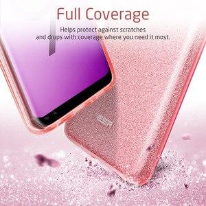 Image 4 - Funda ESR para Samsung Galaxy S9, funda de maquillaje serie trasera, funda protectora brillante con brillo, funda de 3 capas para Samsung S9 Plus