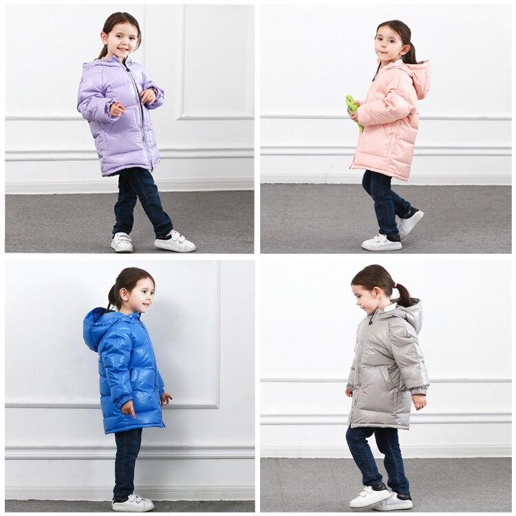 Manteau de neige d'hiver russe 2019 bébé fille veste 80% duvet de canard vêtements de plein air enfants vestes pour filles enfants chauds nourrissons 4 ~ 7y