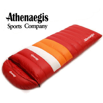 Athenaegis Ultralight Goose Down 1200g/1500g/1800g/2000g Filling Can Spliced Envelope Breathable Thickening Sleeping Bag