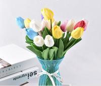 100 tulpen Künstliche Blume Bouquet Gefälschte blume Weihnachten Dekoration blumen für Garten Sets-in Garten-Sets aus Möbel bei