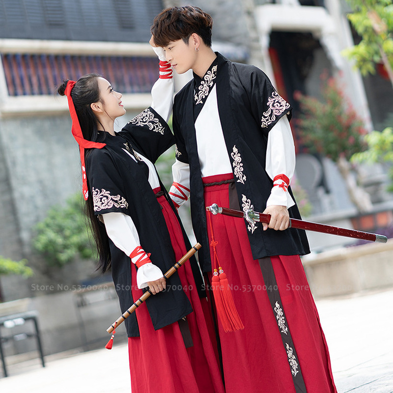 Couple Hanfu Men Tang Suit Women Ancient Traditional Chinese Style Costumes Dance Stage Performance Retro Princess Fairy Dress