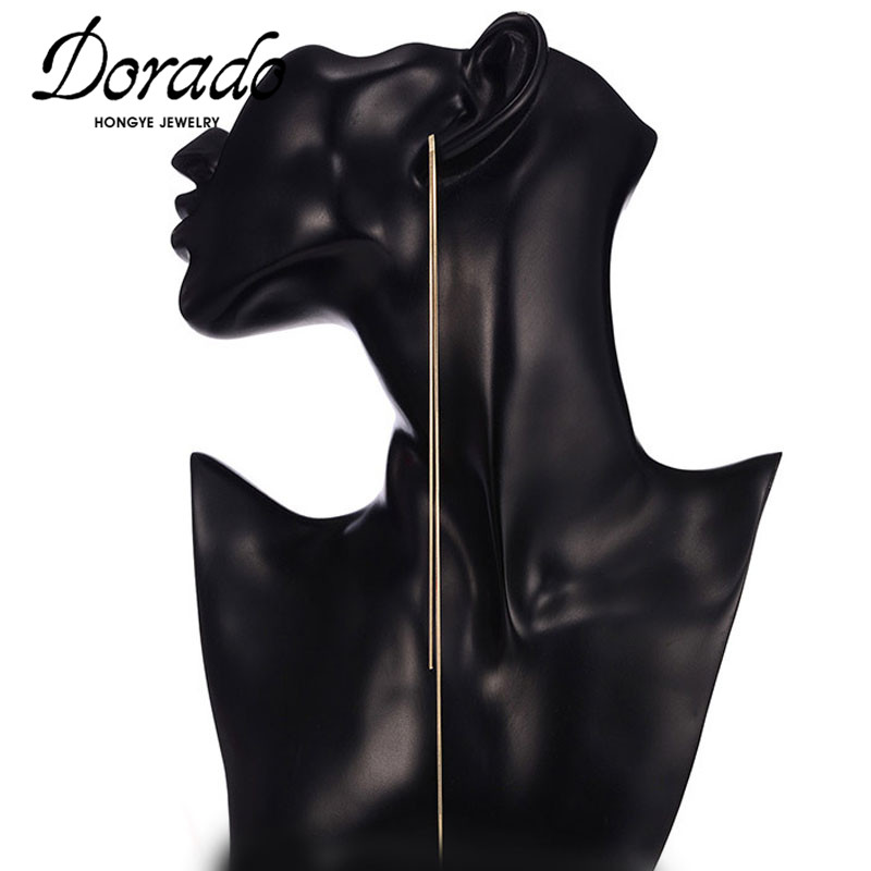 Dorado Super Long Chain Tassel Drop Earrings For Women Girls Retro New Alloy Female Dangle Earring Fashion Party Jewelry Brincos