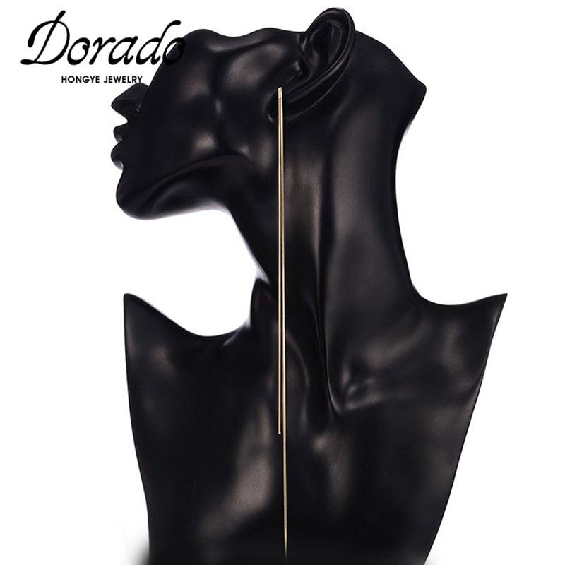 Dorado Super Long Chain Tassel Drop Earrings For Women Girls Retro New Alloy Female Dangle Earring Fashion Party Jewelry Brincos