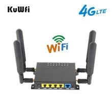 KuWFi OpenWRT 4G Router wi-fi CAT4 150 mb/s bezprzewodowy Router CPE odblokowany 4G SIM Wifi z portem USB i 4 * 5dBi anteny o wysokiej mocy