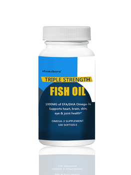100 PCS TRIPLE STRENGTH FISH OIL Provides dietary support for heart, brain, skin, eye and joint health*