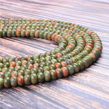 Natural Flower Green Gem 5x8x4x6MM Abacus Bead Spacer Bead Wheel Bead Accessory For Jewelry Making Diy Bracelet Necklace