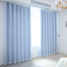 Hollowed Out Star Curtains Products Princess Wind Hotel Curtain Bedroom Living Room  Study muslin Shade