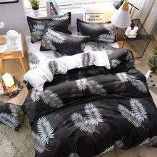 Bedding Set Four-Piece 21Style Bed Aloe Cotton Lattice Stripe Sheet Home Textile Products Semi-Reactive Printing
