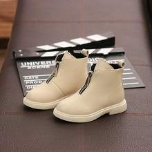 2019 Autumn New Fashion Girl Martin Boots Children Increase Suede Cotton Boots Baby Short Boots Kids Soild Princess Boots 2019 autumn new fashion children single boots male girl shoe soild student non slip short boots child martin boots
