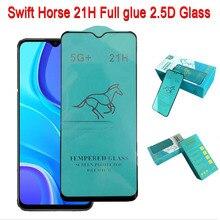 100pcs Swift Pferd 21H Für Xiaomi Redmi Hinweis 10/Hinweis 8T/Hinweis 8 Pro/hinweis 9 Pro/POCO F3 Pro/K40 Volle Kleber Gehärtetem Glas bildschirm