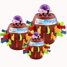 Pirate Bucket Toy Sword Game 3D Puzzle Party Games Funny Toys Children Pirates Game Tricky Barrel Plug Girt Table Toys For Kids