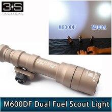 1400lumes surefir m600df duplo combustível scout luz led caça tático surefir lanterna m600 caber 20mm trilhos scouting lampe