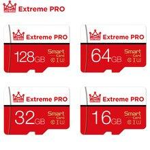 Carte mémoire micro sd rouge De haute qualité, 256 128 64 32 16 go, SDXC, SDHC, pour Smartphone, tablette et PC