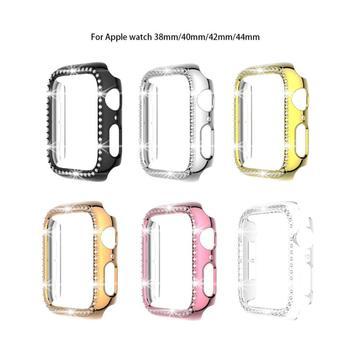 Nadaje się do inteligentnego zegarka z serii PC diamentowy futerał ochronny do zegarka Apple poszycie etui na zegarek poszycie akcesoria do zegarków tanie i dobre opinie centechia CN (pochodzenie) Przypadki english Dla osób dorosłych Zgodna ze wszystkimi dropshipping wholesale