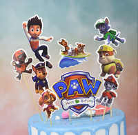Paw Patrol Birthday Party Decoration Puppy Patrol Cake Card Fruit Plug-in Birthday Party Supplies Paw Patrol Toys for Children