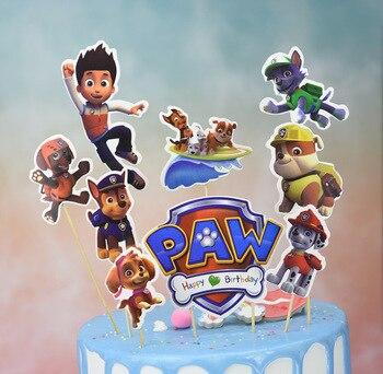 Paw Patrol Birthday Party Decoration Puppy Patrol Cake Card Fruit Plug-in Birthday Party Supplies Paw Patrol Toys for Children
