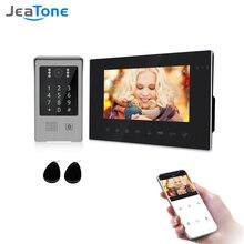Jeatone 7 дюймовый беспроводной wi fi видеодомофон с дневным
