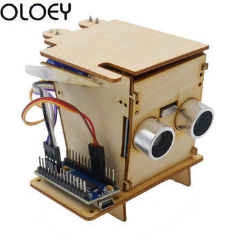 STEM Children programming education robot Smart Trash Kids boy DIV Wooden Experimental suite supports Robotics Nano For Kit