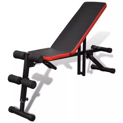 Vidaxl Verstelbare Vouwen Weigerde Zitten Board Mutifunctional Abdominale Bench Home Gym Fitness Bench-Crunch Push Up V3