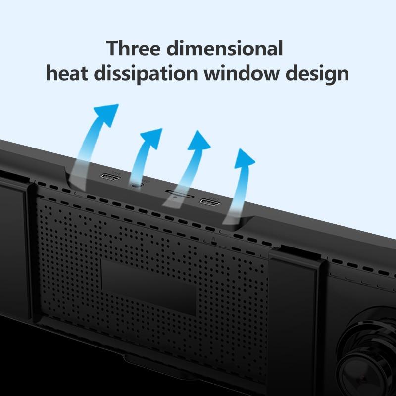 JADO Dash Cam DVR T650C Stream Rearview Mirror IPS Car DVR Video Recorder1080P HD Driving Video Dashcam Car Camera 6