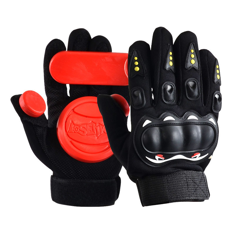 4 Color Skateboard Longboard Slide Gloves With Slider Professional Protective Gloves Patins For Skating Finger Board Skateboard