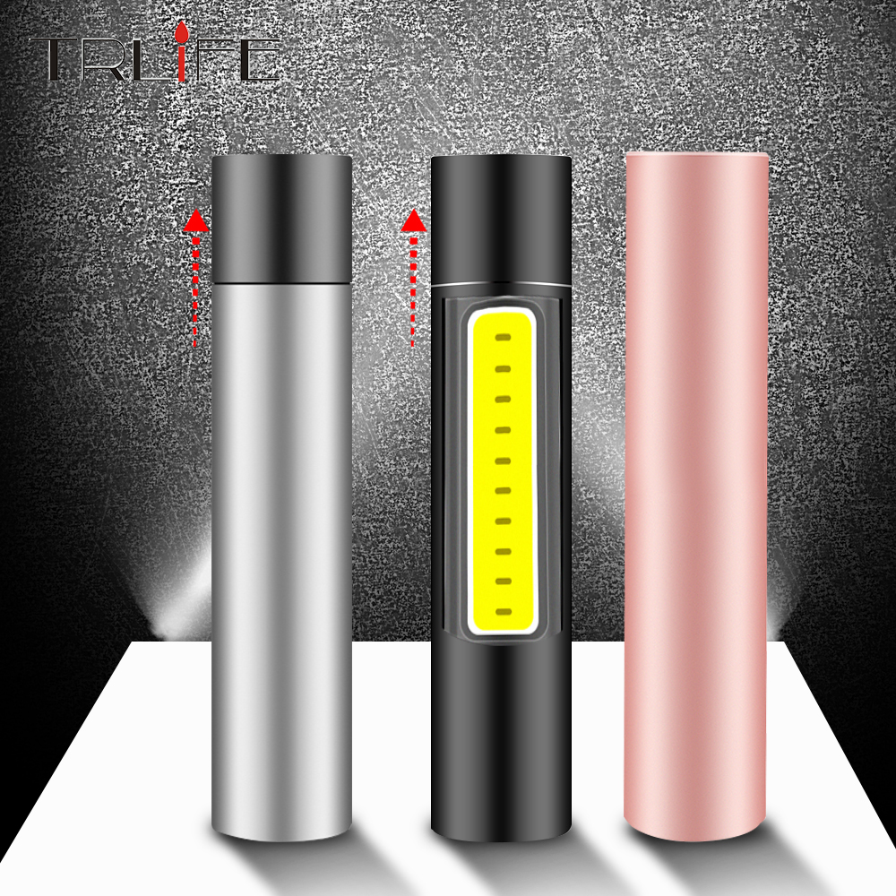 600mAh USB Rechargable Mini LED Flashlight IP4 Waterproof Torch Penlight 3 Mode Stylish Portable Suit For Night Lighting,Camping