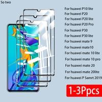 Funda completa de vidrio templado para Huawei P30 P20 P10 lite Pro P Smart 2019, Protector de cristal de pantalla para Huawei Mate 10 20 lite pro 9