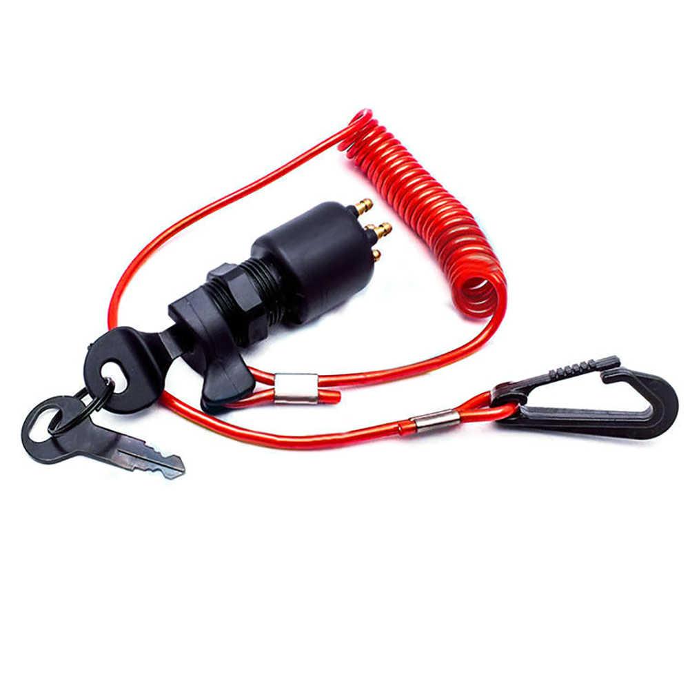 Boat Ignition 11 Key Emergency Safety Cut Off Kill Switch Lanyard Tether Kit
