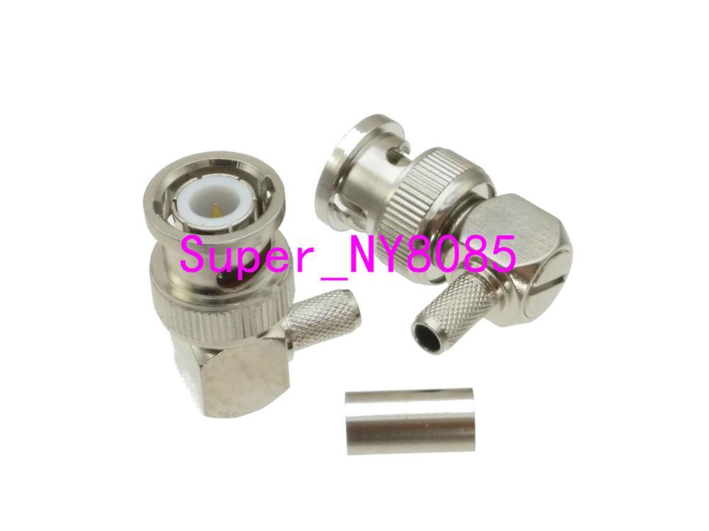 10PCS right angle SMA male PLUG crimp RG179 RG316 RG174 /& Heat shrink tube
