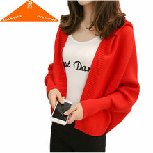 Long Batwing Women's Sleeve Cardigans 2020 Newest Fashion Female Casual Swearters Lady Sweet Elegant Tops Clothes LWL622(China)
